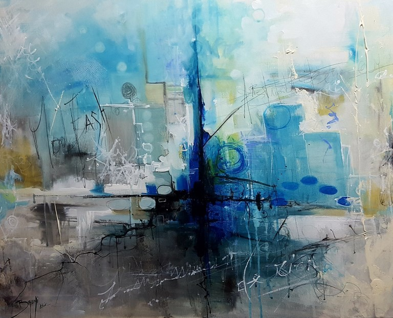 Abstract painting - Galerie Bruni Eric